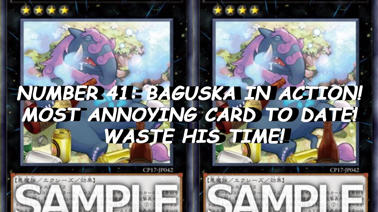 number 41 baguska in action most annoying card to date waste