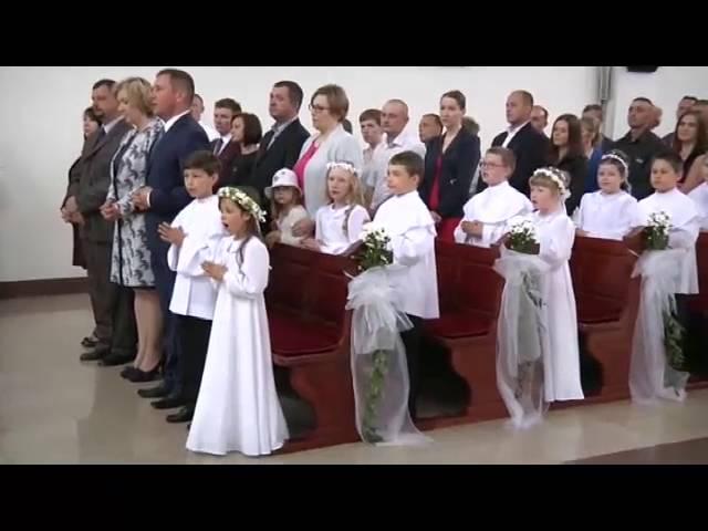 Pierwsza Komunia Święta w Parafii Przemienienia Pańskiego w Grodzisku Mazowieckim 22.05.2016