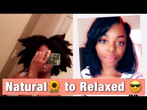 I got a relaxer after 7 years | Natural to Relaxed Hair | October  2019