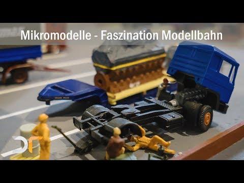 Menck Seilbagger, Raupenbagger, LKWs und PKW auf der Faszination Modellbahn - Maimarkthalle