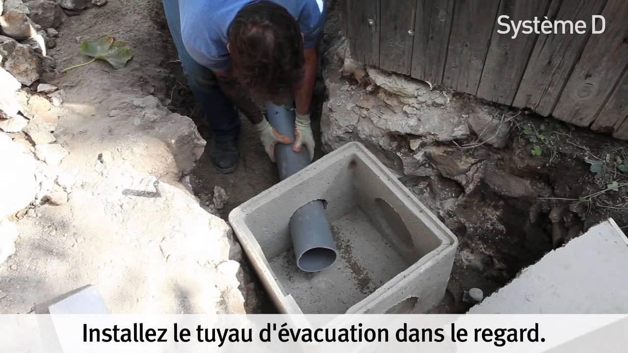 Installer Un Tuyau Pour L évacuation Des Eaux Usées Dans Un Regard
