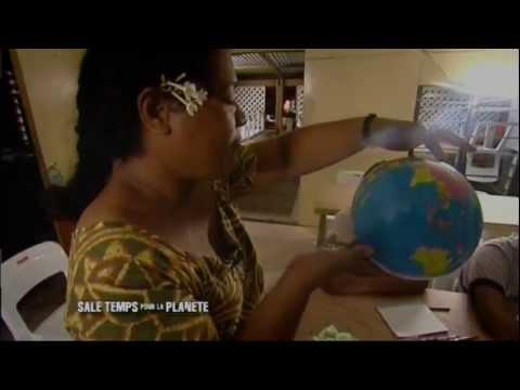 La montée des eaux à Tuvalu dans l'Océan Pacifique