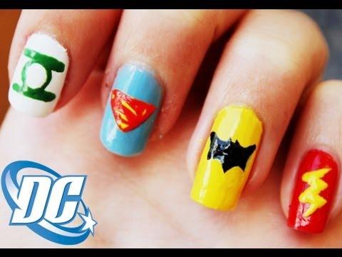 Dc Comics Uñas De Superheroes Superhero Nails