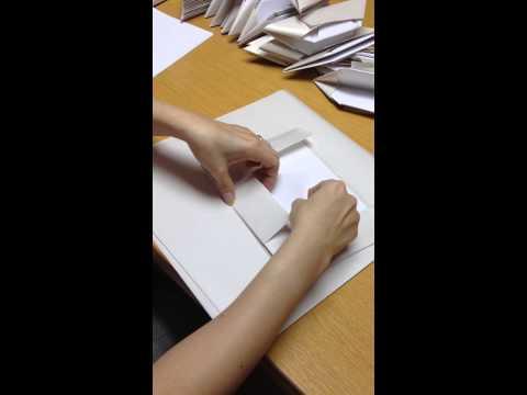 วิธีพับกระทงกระดาษใส่อาหาร (ใช้กระดาษห่อข้าวมันไก่)