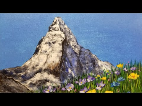Mountain Landscape LIVE Acrylic Painting Tutorial