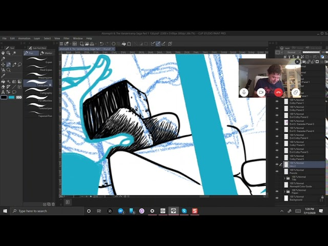 Atomsplit Drawing and Rocking Podcast 42 - Virtual ComicCons?
