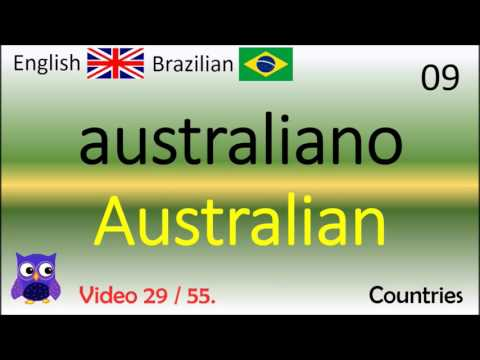 29 Countries (Países) Inglês - Brasileiros / Brazilian - English Words (Portugal-English)