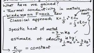 Mod-01 Lec-03 Free electron theory