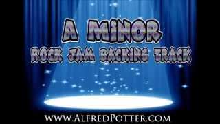Rock jam backing track in A minor