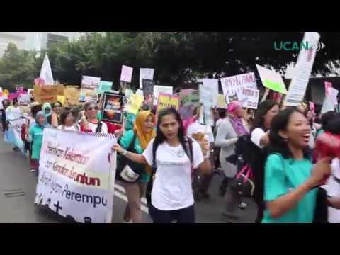 INDONESIA: Women's March in Jakarta