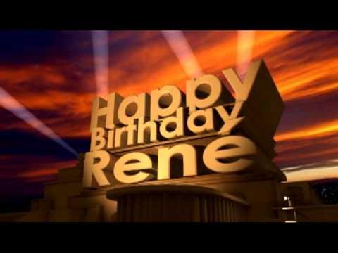 Happy Birthday Rene Youtube