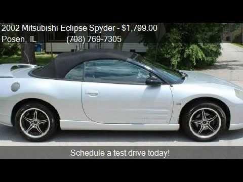 2002 Mitsubishi Eclipse Spyder Gt 2dr Convertible For I