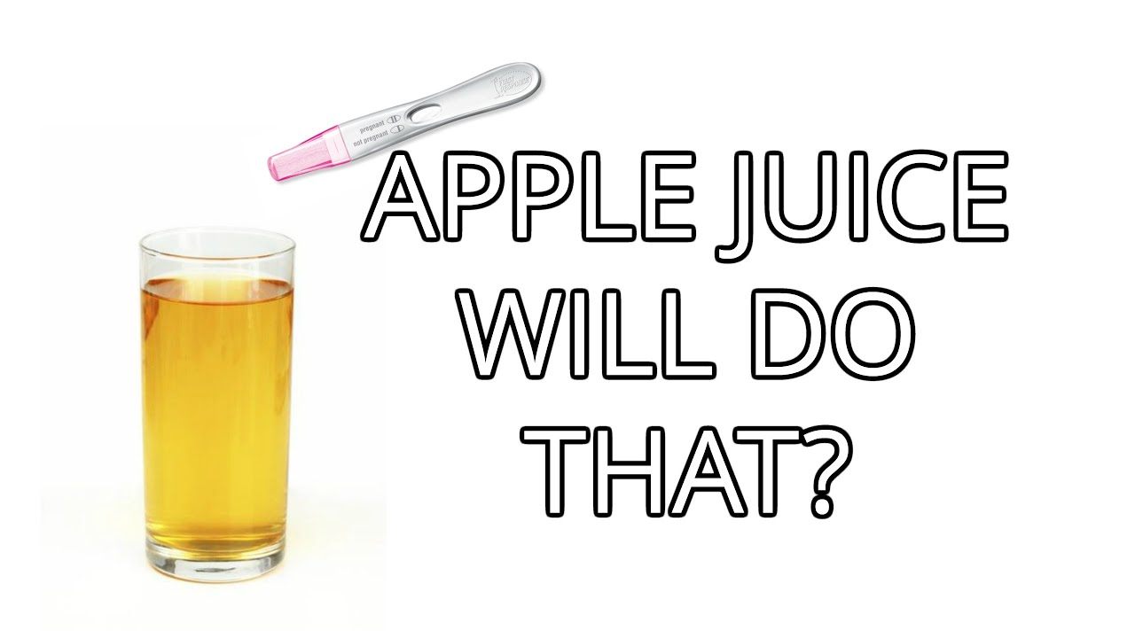 how to make a pregnancy test positive with apple juice