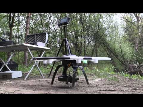 River surveying and creation of a 3D model with the Aibot X6 UAV