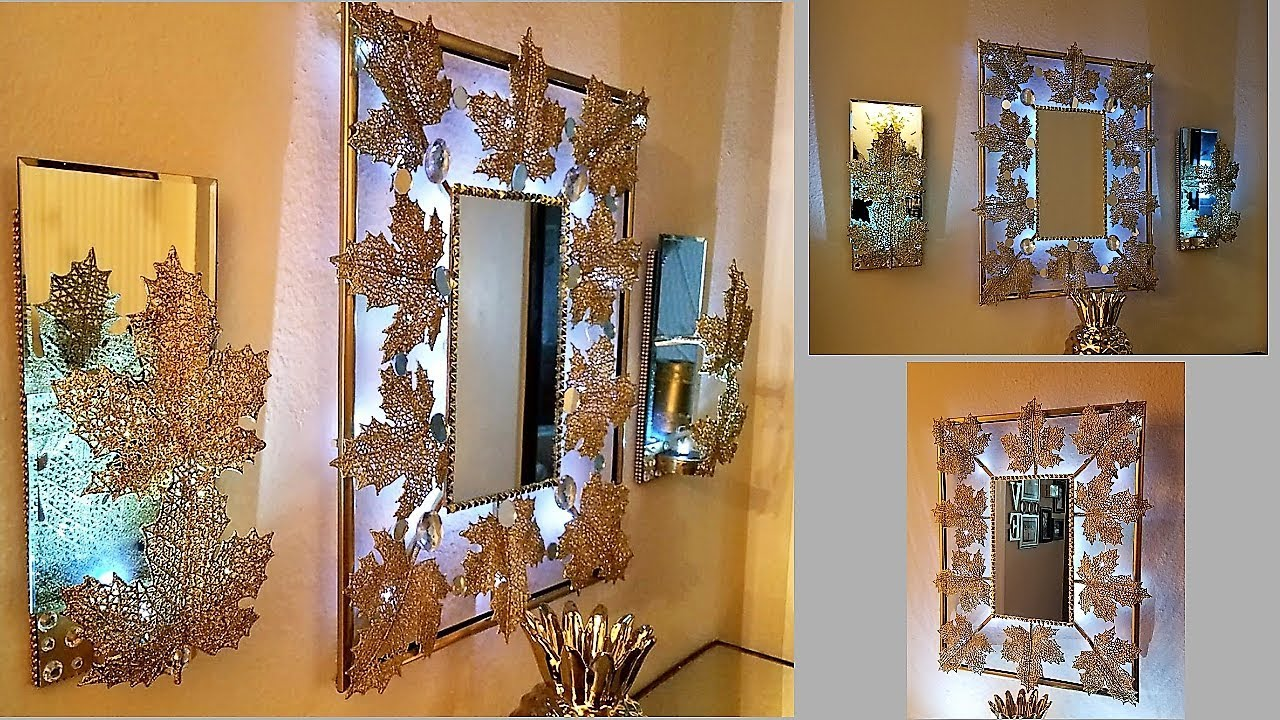 Exquisite wall mirror matching wall sconces wall hanging