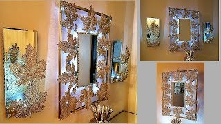 Exquisite Wall Mirror & Matching Wall Sconces| Wall Hanging Decorating Ideas|Dollar Tree Hack!