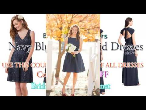 Navy Blue Bridesmaid Dresses Latest Collection