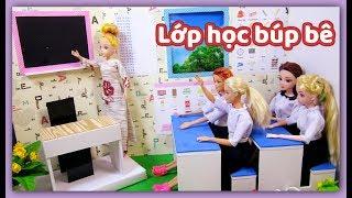 Cách làm lớp học cho búp bê - Làm đồ cho búp bê/ DIY - How to Make: Doll Classroom / Ami DIY