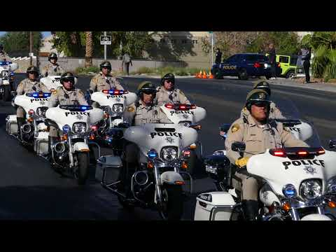 Procession for Officer Charleston Hartfield