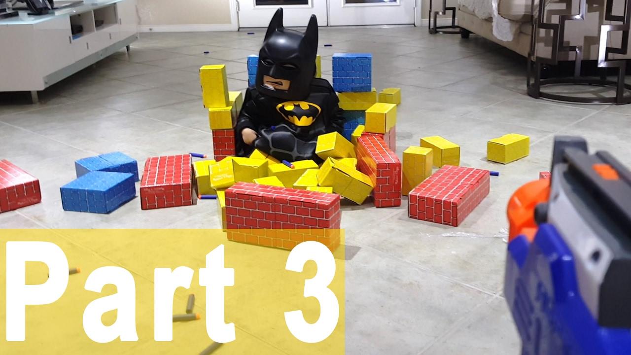 Lampada Lego Batman : Lego batman movie vs nerf war part first person shooter new