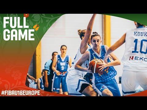 Greece v Bosnia & Herzegovina - Full Game - Class 9-16 - FIBA U18 Women's European Championship 2017