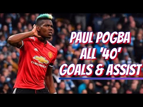 Paul Pogba All 40 Goals U0026 Assists For Manchester United With English Comentatory