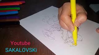 Redkit kara kalem çizim how to draw