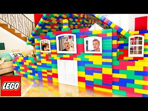 BUILDING GIANT LEGO HOUSE! *BAD IDEA*