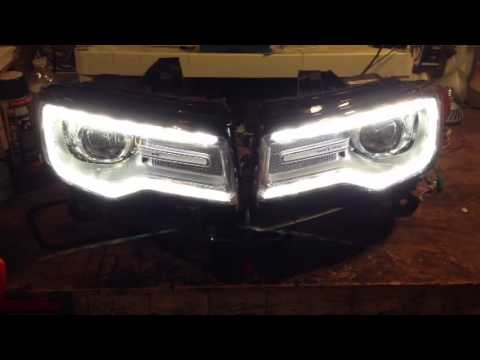 2014 Jeep Grand Cherokee Oem Hid Led Headlight Adapting Har Youtube