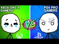 PS4 Pro Gamers VS XBOX ONE X Gamers | Battle of Console Gamers