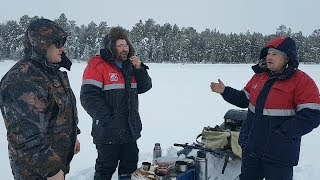 Зимняя рыбалка 2019. Поехали за линём, а надубасили окуня.