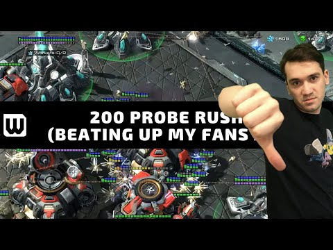Starcraft 2: 200 PROBE RUSH CHEESE (Beating up my fans ;) from YouTube · Duration:  2 hours 26 minutes 57 seconds
