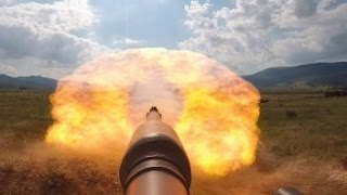 AWESOME POWER !!! US Military M1 Abrams Tank live fire