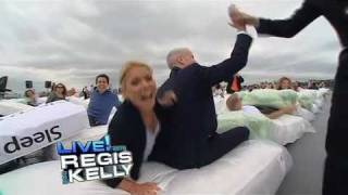 09 17 10 anderson on live with regis kelly largest human mattress dominoes