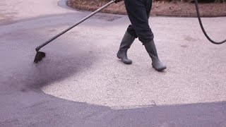 Asphalt Sealing a LARGE Driveway (We Mean Clean)