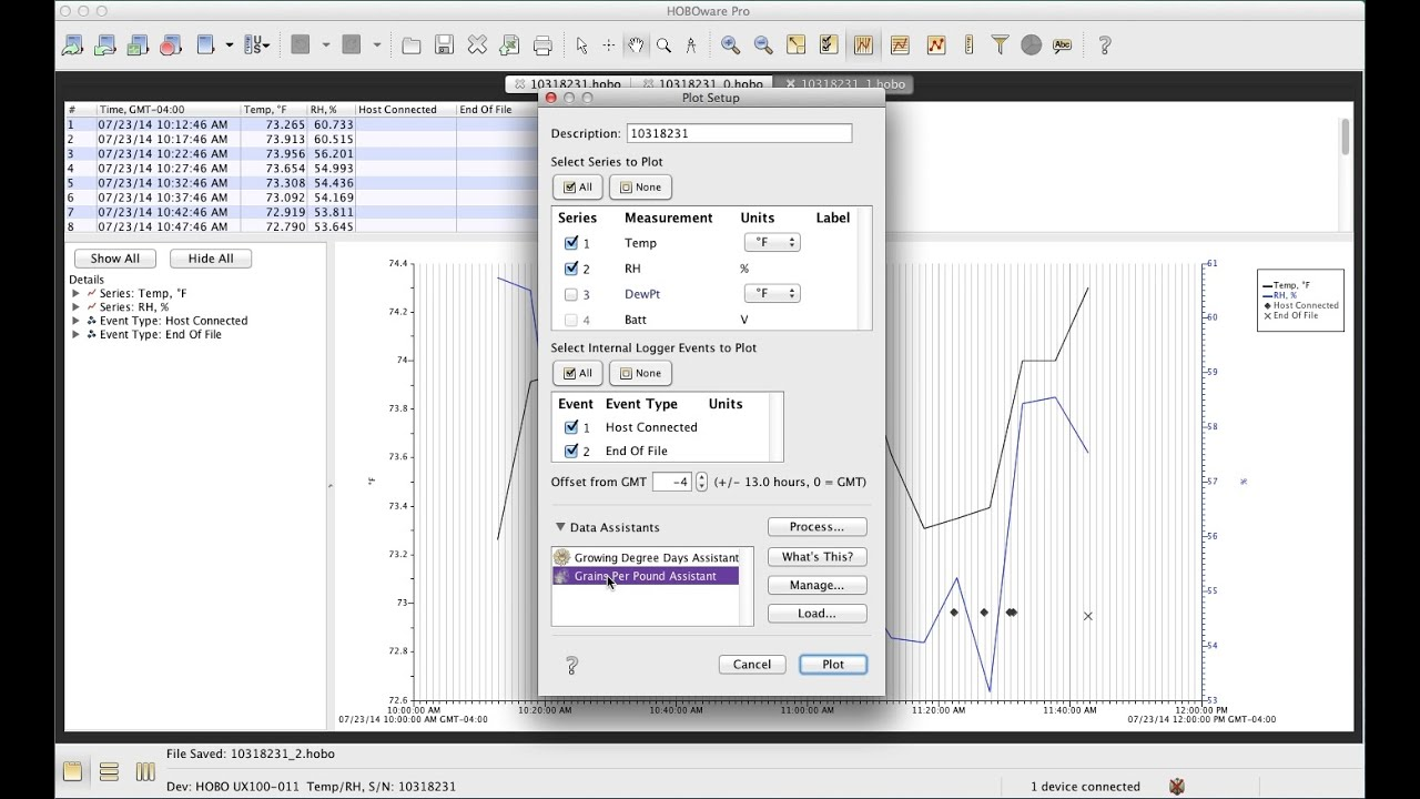 HOBOware Graphing & Analysis Software | Onset Data Loggers