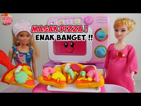 Barbie Hamil Masak Kue Pizza Main Masak Masakan Mainan Anak Perempuan Youtube