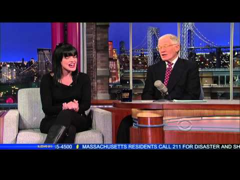 Pauley Perrette on David Letterman