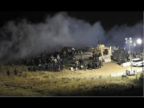 Standing Rock Water Protectors Attacked - Kevin Gilbertt Livestream 1