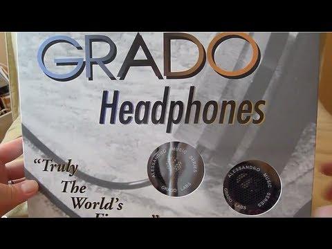 First Look Alessandro  Grado Music Series One headphones Unboxing