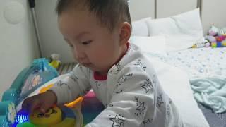 장난감 피아노 갖고 노는 쭈니 (육아일기)
