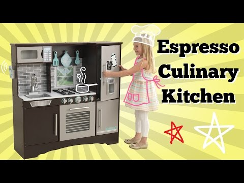 NEW! KidKraft Culinary Play Kitchen Espresso | Imaginative ...