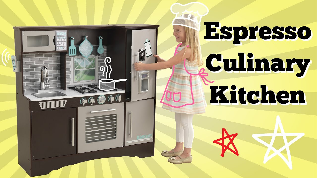 NEW! KidKraft Culinary Play Kitchen Espresso | Imaginative Play