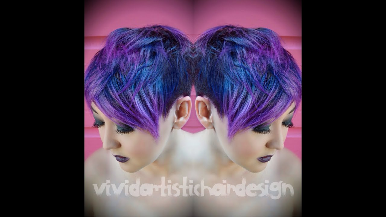 Galaxy Inspired Color Melt By Rebecca Taylor Vivid Artistic Hair
