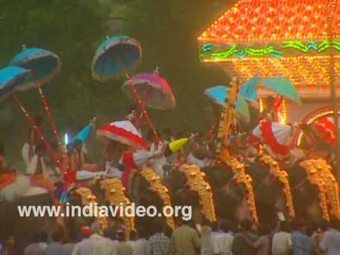 The eight-day long Uthralikkavu Pooram