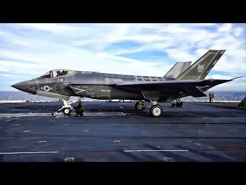 F-35C Strike Fighters Launch & Land Aboard USS Carl Vinson