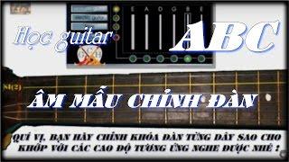 Chỉnh dây đàn guitar - Học đàn Guitar ABC