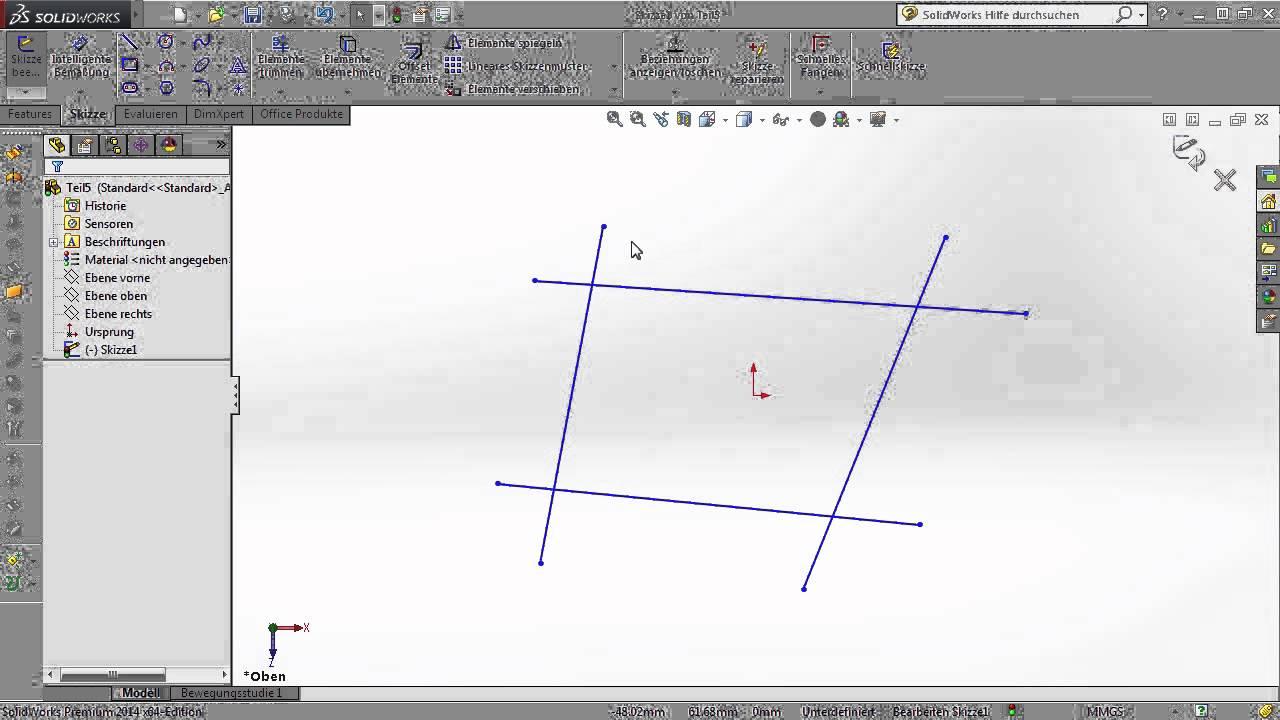 Solidworks Tutorial Skizze Erstellen Video2brain Com Youtube