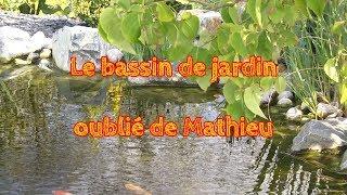 Le bassin de jardin oublié de Mathieu