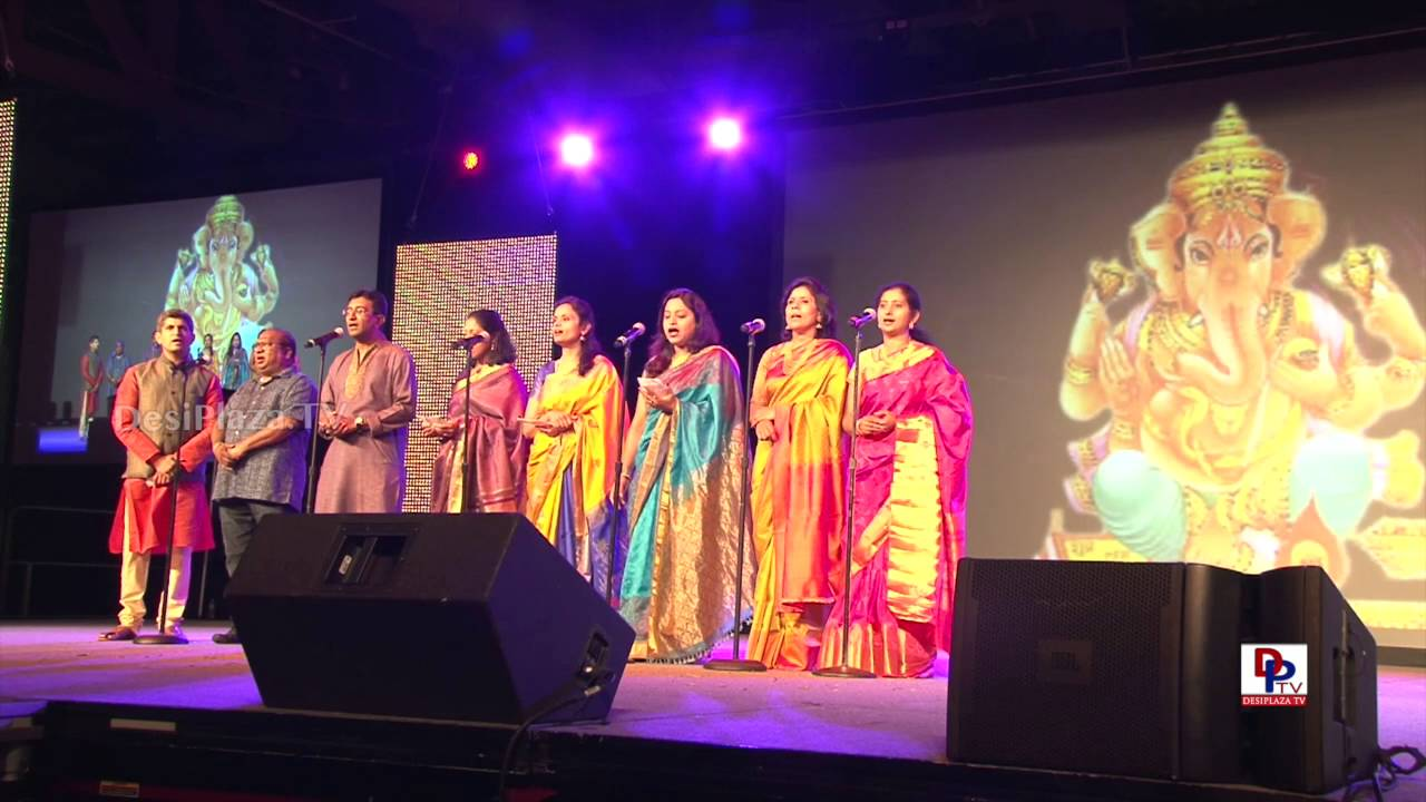 Invocation song by participants at 9th AKKA World Kannada Conference